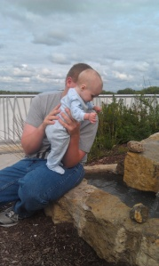 My husband and son during an outing last month.