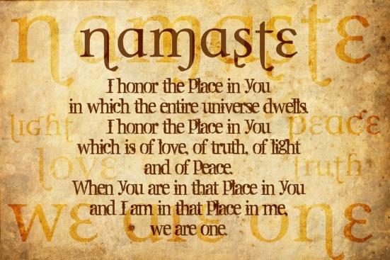 Namaste, word with definition.